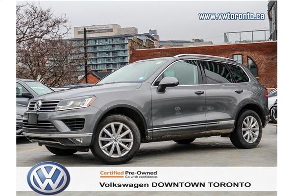 Volkswagen Touareg CPO|ONE OWNER|CLEAN CARFAX|LOW RATE FINANCE STARTS 2017